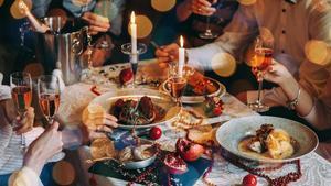 Sis persones al sopar de Nadal