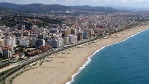 Vista de Calella de la Costa, en el Maresme.