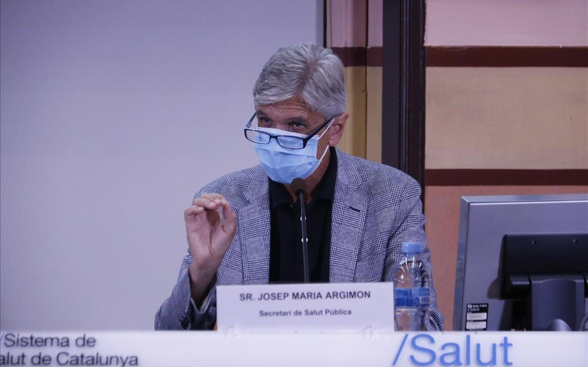 Josep Maria Argimon, secretario deSalut Pública de Catalunya, este martes.