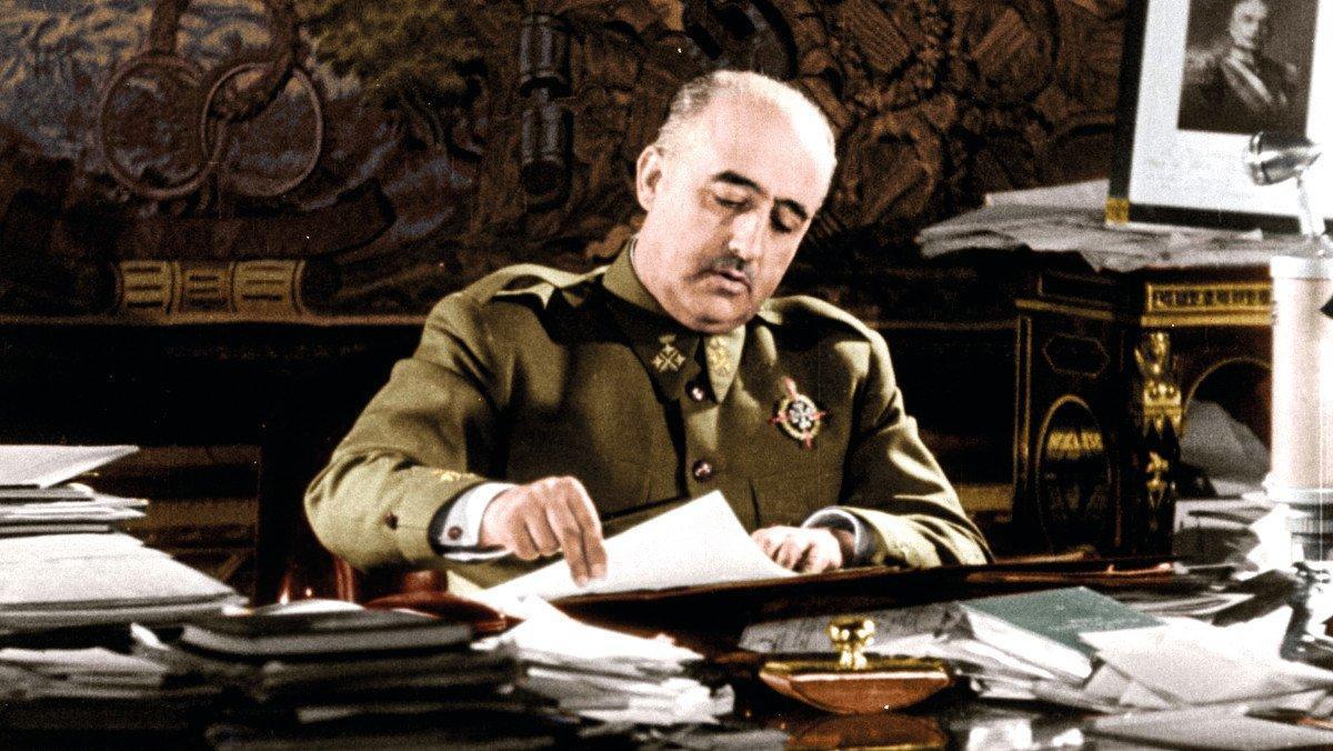 Francisco Franco, en la serie documental 'Franco. La vida del dictador en color'.