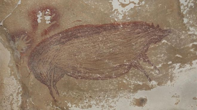 Jabalís de 45.500 años señalan la cuna del arte rupestre