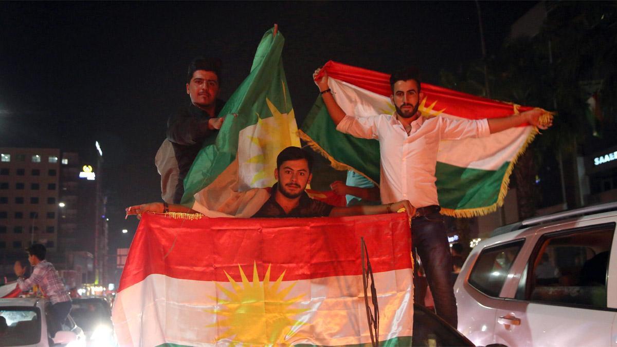 El 80 por ciento de los kurdos votó ayer masivamente por la independencia