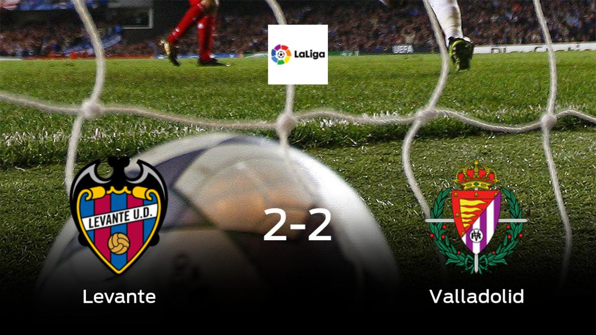 El Levante salva un punto frente al Real Valladolid (2-2)
