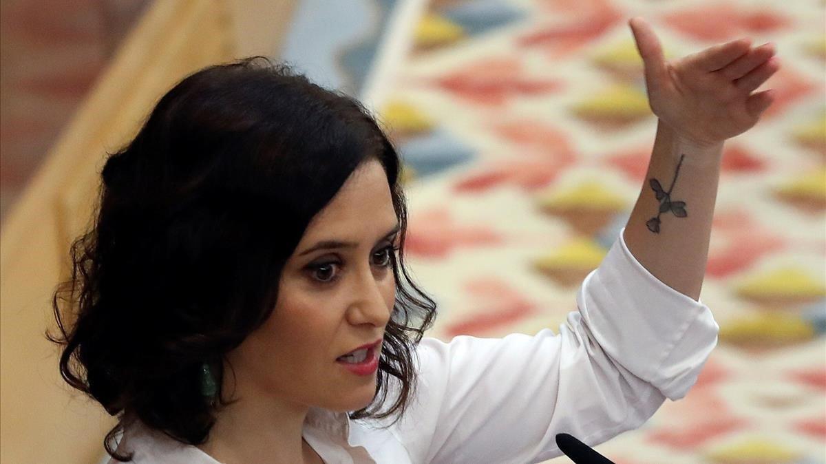 La Presidenta de la Comunidad de Madrid, Isabel Diaz Ayuso.