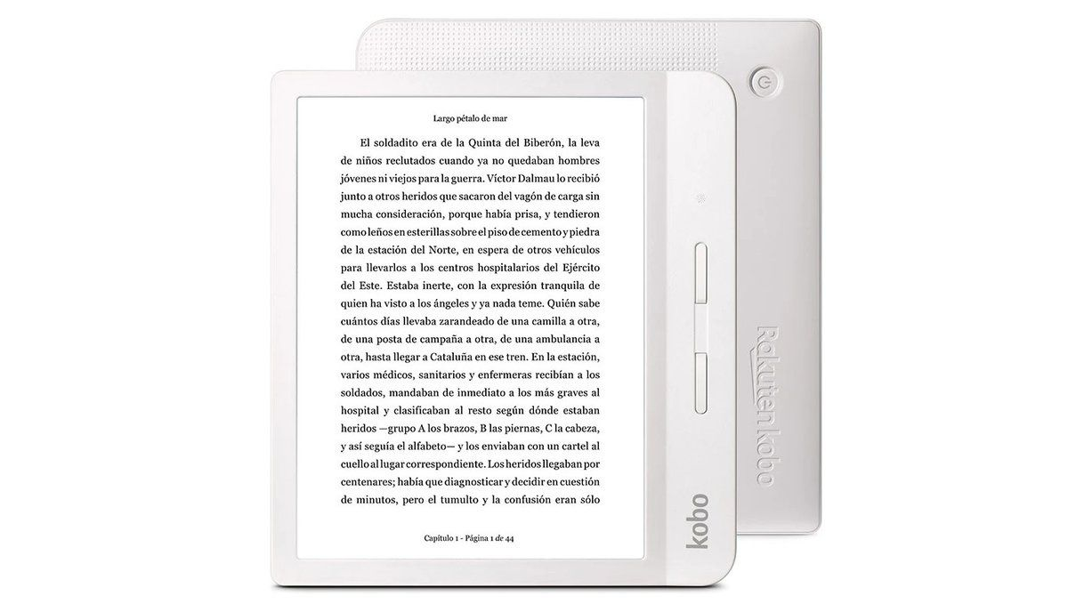 El libro electrónico Kobo Libra H2O.