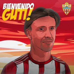 Guti, en las redes sociales del Almería.