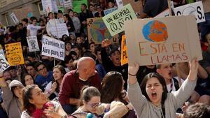 Una imagen de la manifestación por el clima de Madrid.