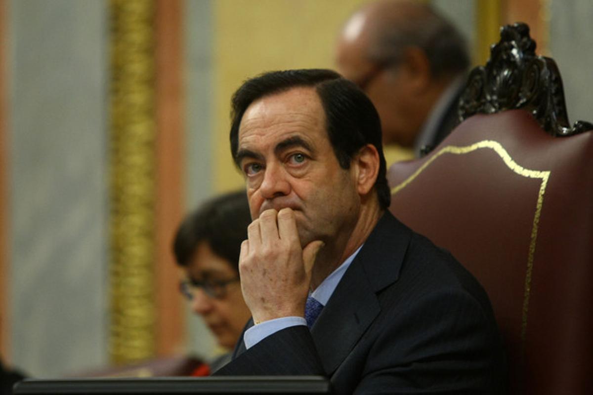 José Bono, en el Congreso, durante su etapa de presidente de la Cámara.