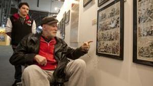 Víctor Mora, en el Saló del Còmic esta tarde.