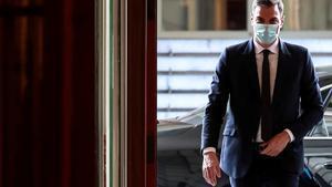 Pedro Sánchez llega al Congreso.
