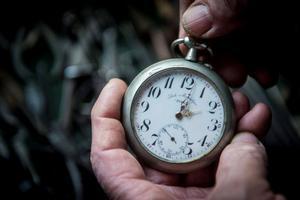 Un reloj con las manecillas en las dos.