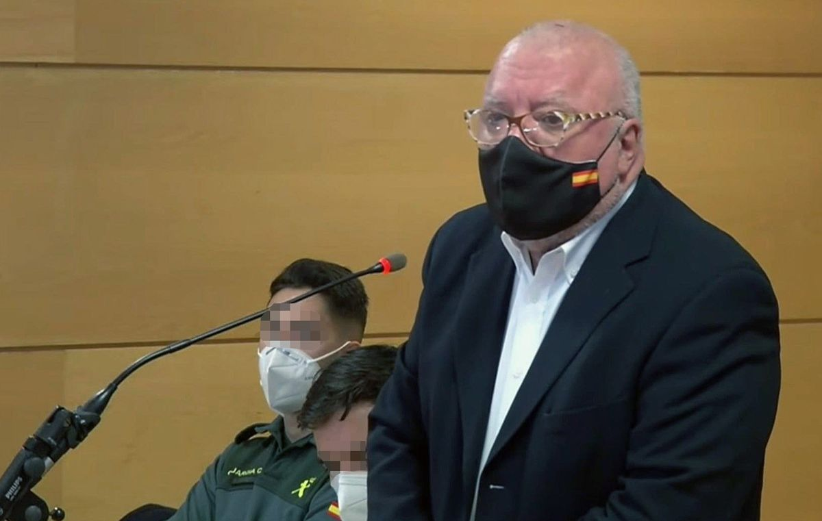 José Manuel Villarejo, el pasado 15 de enero, en un juicio por delitos de injurias al exjefe del CNI Félix Sanz.