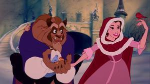 Una escena de la película de animación 'LaBella y la Bestia', de 1991.