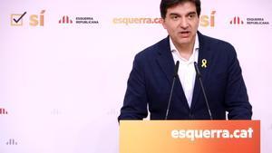 Sergi Sabrià, presidente del grupo de ERC en el Parlament