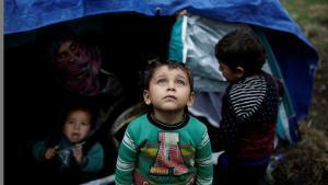 El campamento de Moria en Lesbos, desbordado por la llegada masiva de refugiados.