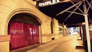 Una disoteca cerrada en Barcelona.