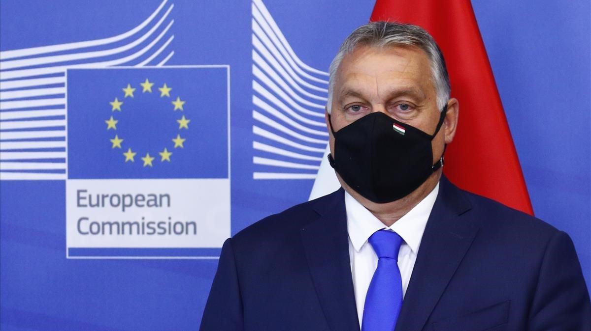 El primer ministro húngaro, Viktor Orban, hoy en Bruselas.
