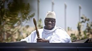 Imagen del dictador depuesto de Gambia Yahya Jammeh.