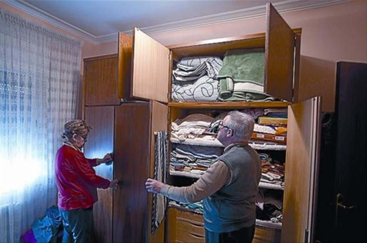 La habitación 8 El armario que abrieron los asaltantes.