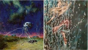 'Invasiónde los marcianos' (1950) y 'La ninfa marina' (1950),de José Segrelles.