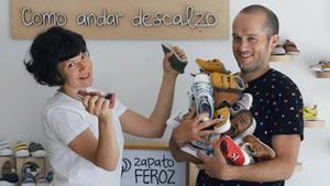Laura García, cofundadora y diseñadora de producto en Zapato Feroz, y su marido Héctor.