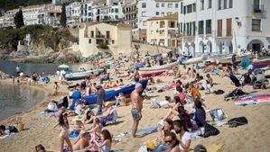 Una playa de Girona, la pasada Semana Santa.