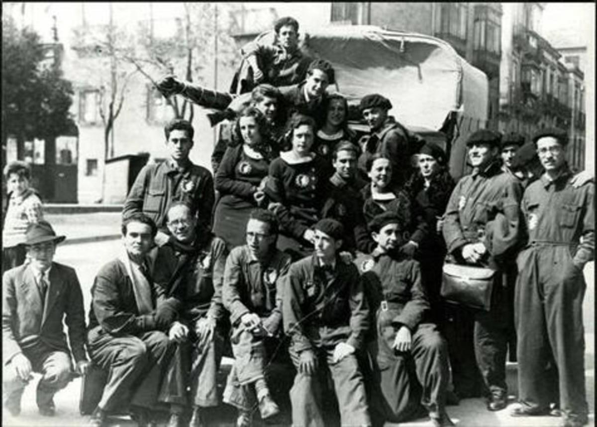 Componentes de la compañía teatral La Barraca de Federico García Lorca.