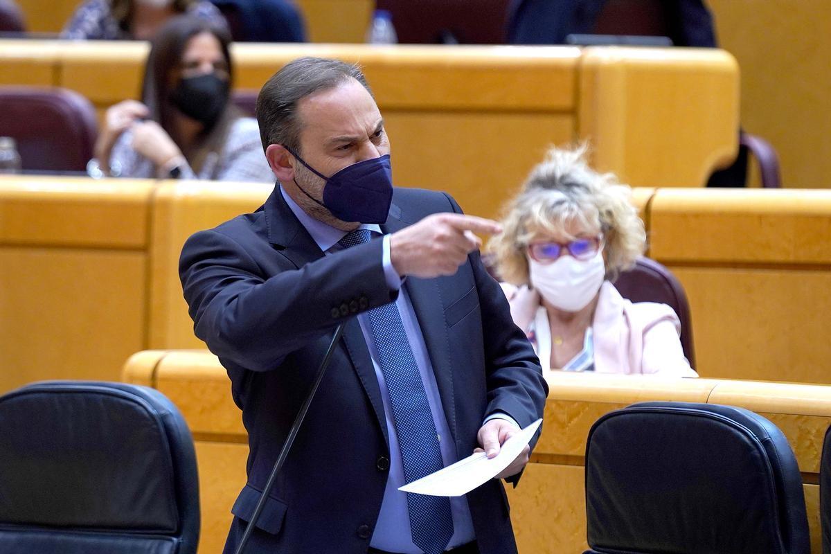Sesión de control al Gobierno en el Senado , en la imagen Jose Luis Ábalos.