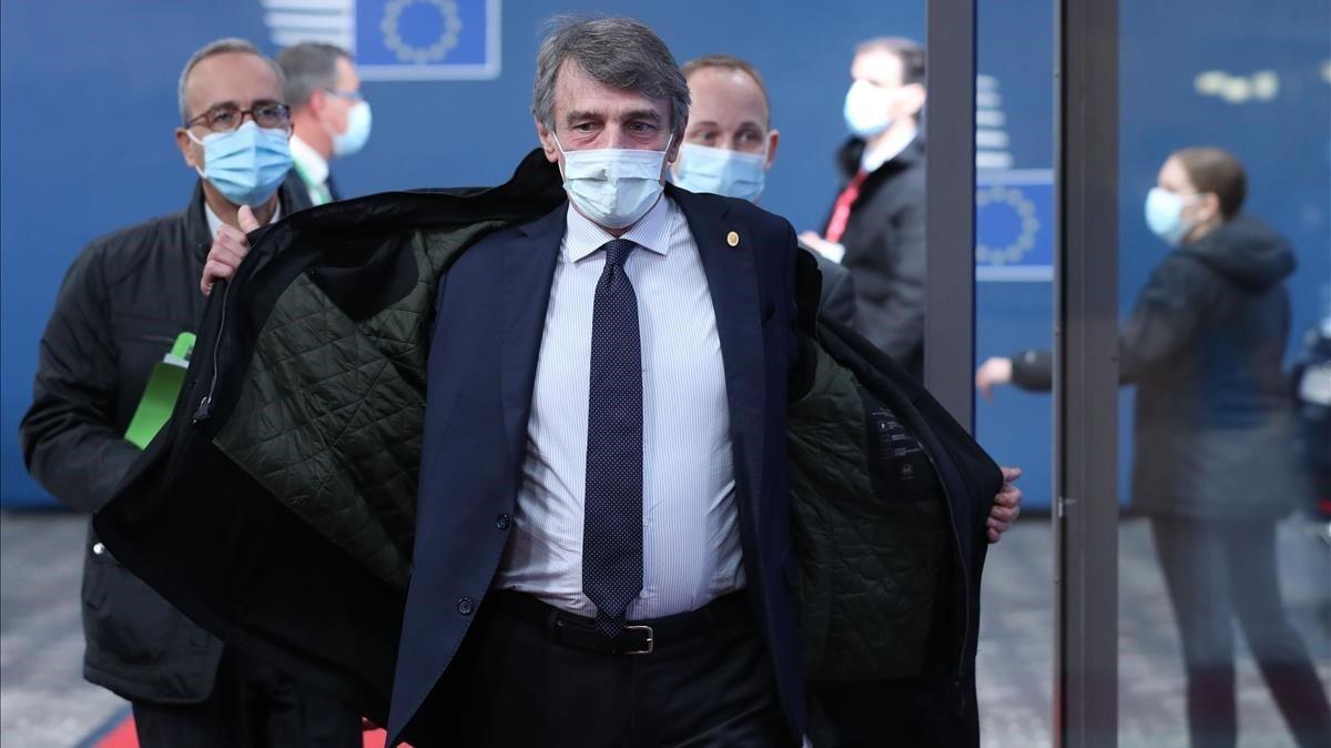 David Sassoli en Bruselas en Octubre