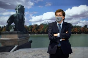 El alcalde de Madrid, José Luis Martínez-Almeida, en una rueda de prensa el pasado miércoles