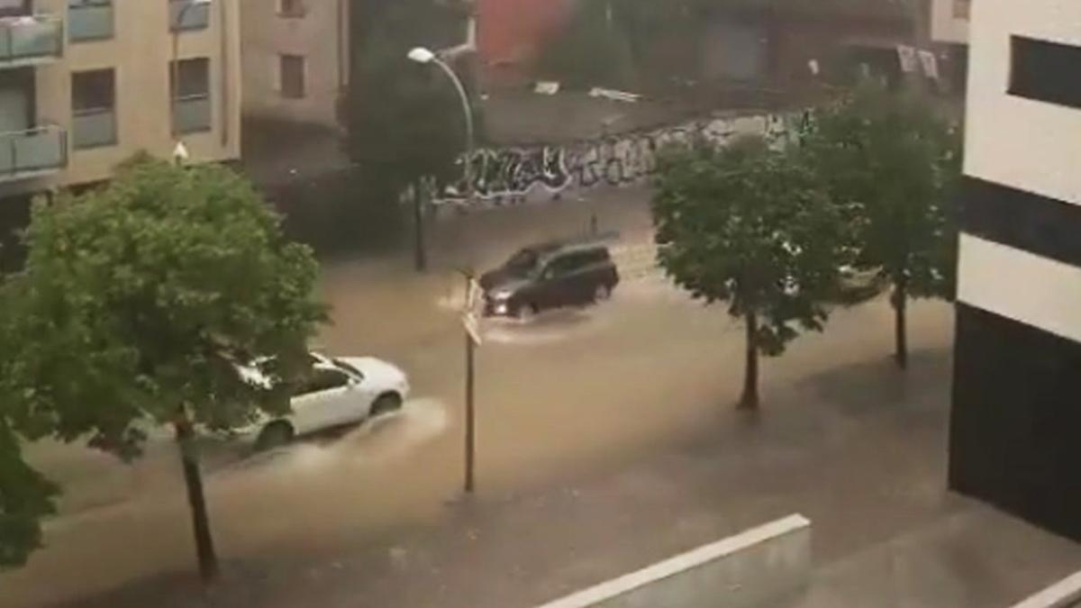 Girona, tras las lluvias de la semana pasada.