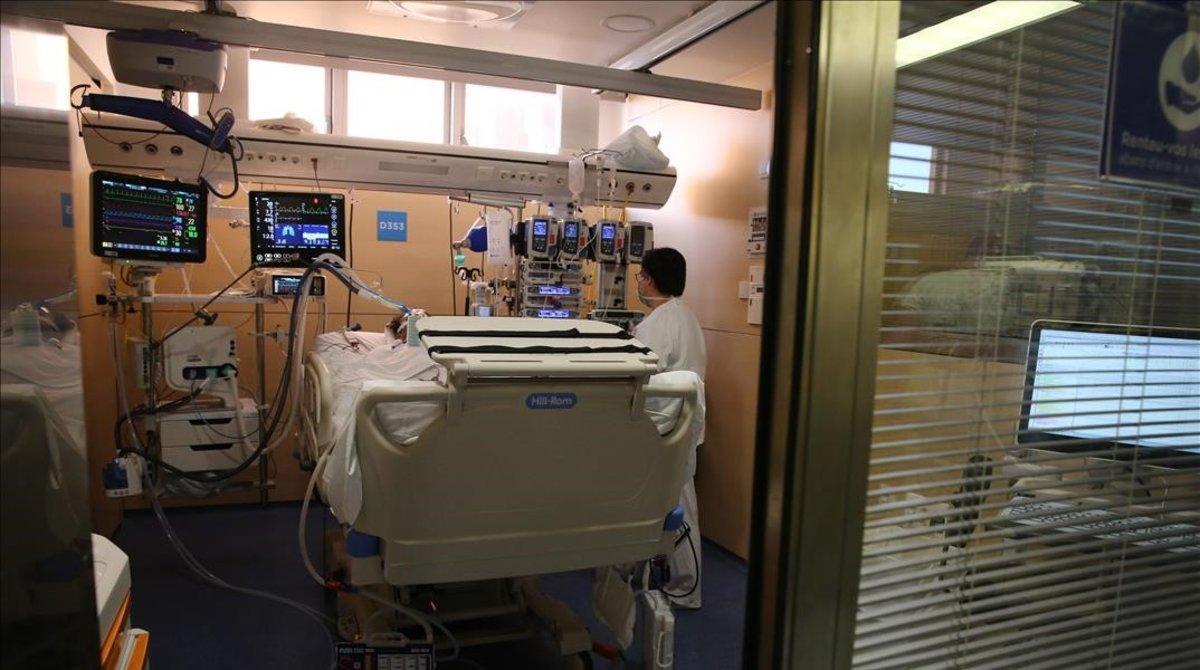 Una uci del hospital Vall d'Hebron.