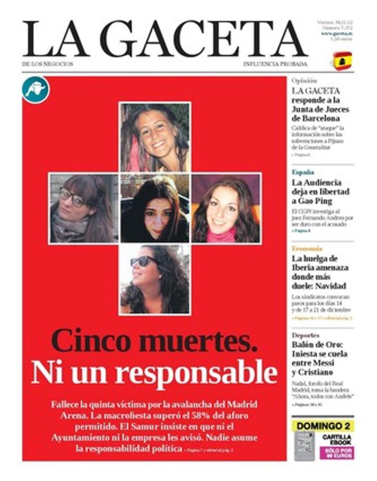 La Gaceta, 30-11-2012.