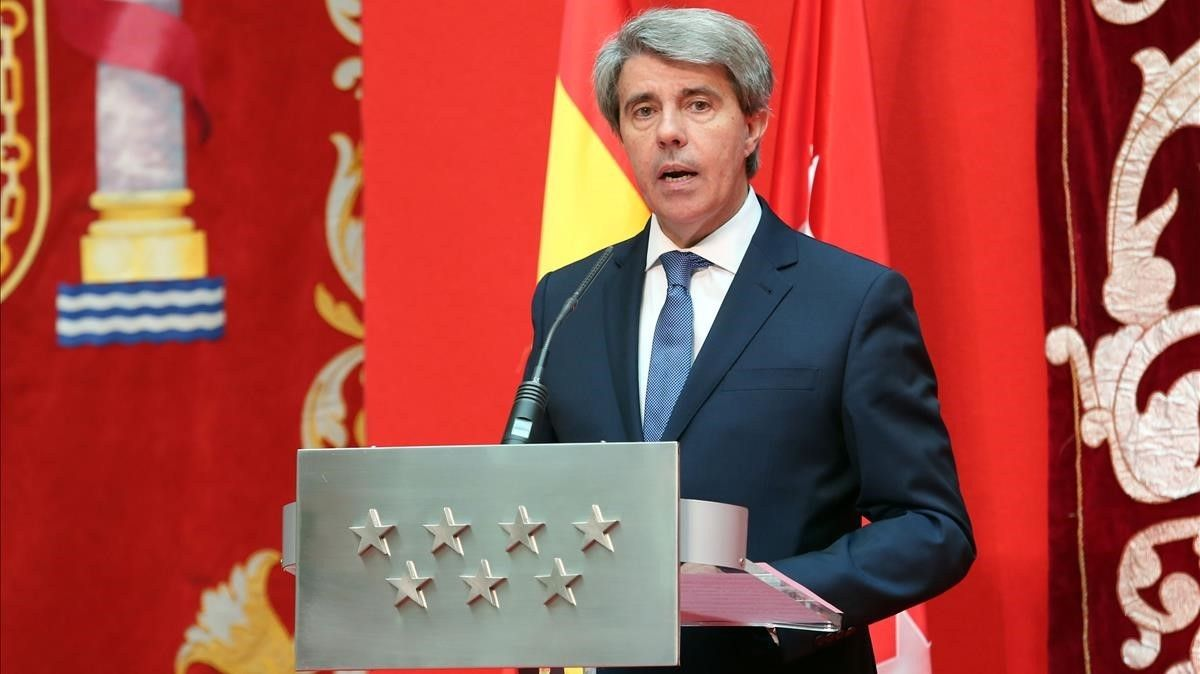 Ángel Garrido, en la toma de posesión como Presidente de la Comunidad.