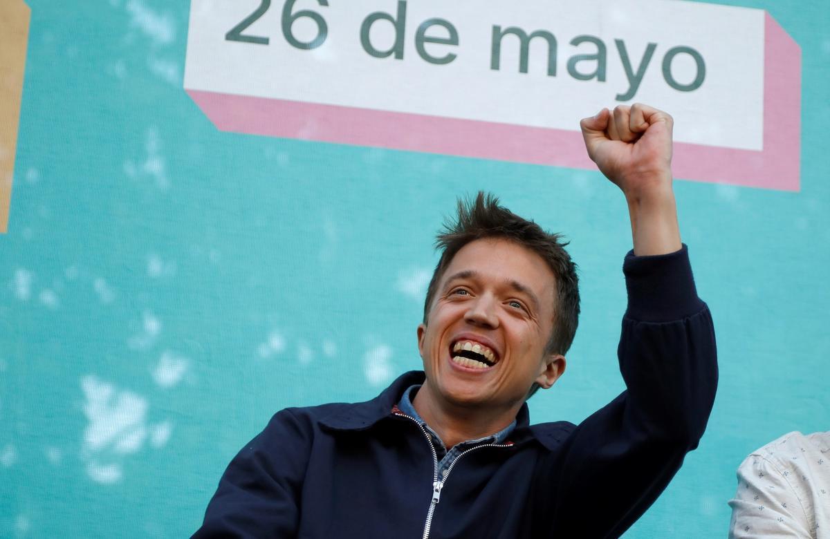 Íñigo Errejón durante el acto de cierre de campaña de las elecciones autonómicas de 2019