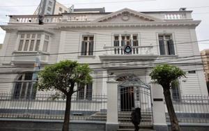 La embajada de Argentina en La Paz, Bolivia.