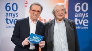 Jordi Hurtado, presentador de 'Saber y ganar' y Sergi Schaaff, su director.