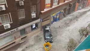 Las tormentas causan graves daños en Madrid.