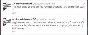 Las aclaraciones de la representante de Calamaro en España.