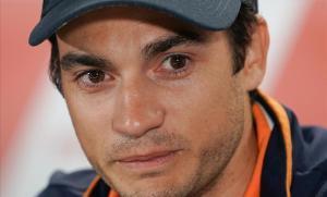 El piloto catalán Dani Pedrosa durante la rueda de prensa de este jueves en Sachsenring