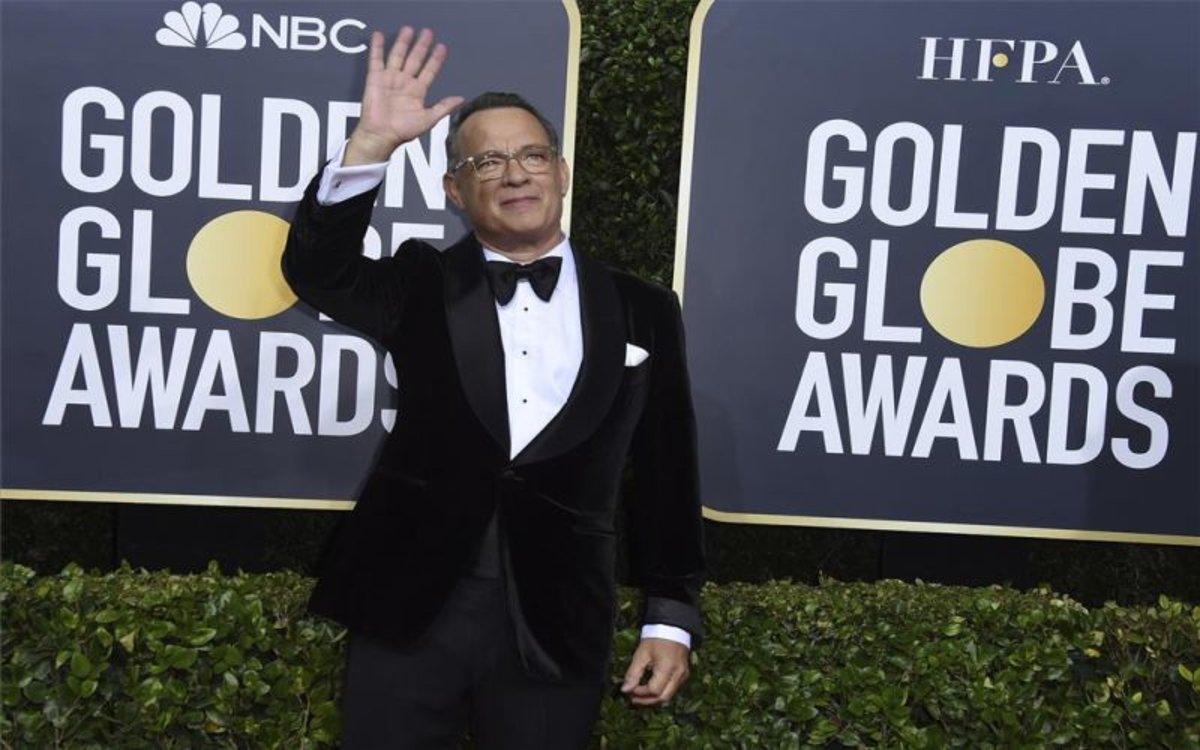 Tom Hanks en los premios Globos de Oro.
