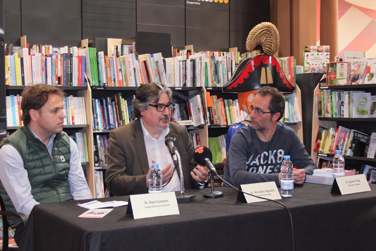 El teniente de alcalde de Cultura, Innovación y Proyección de Terrassa, Amadeu Aguado, en la presentación de la Fira Esplay de Playmobil.