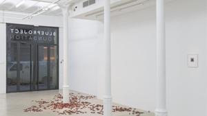 La exposición 'abstine substine', del artista Serj, en la Blouproject, este miércoles.