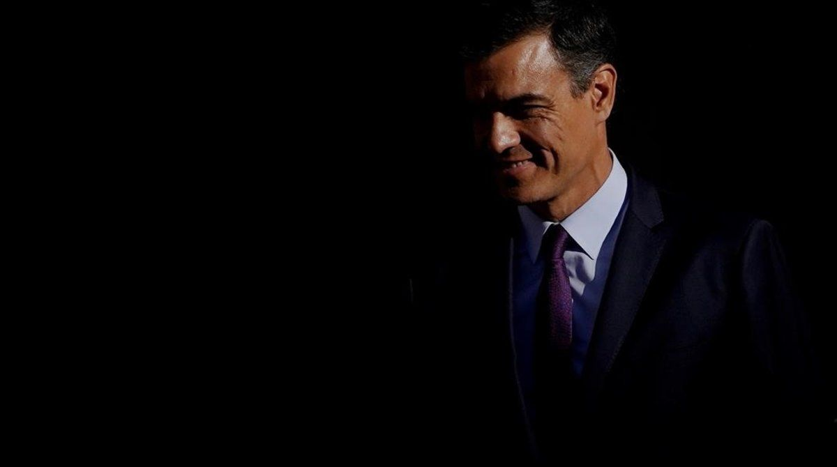 Pedro Sánchez, este jueves en la Moncloa.