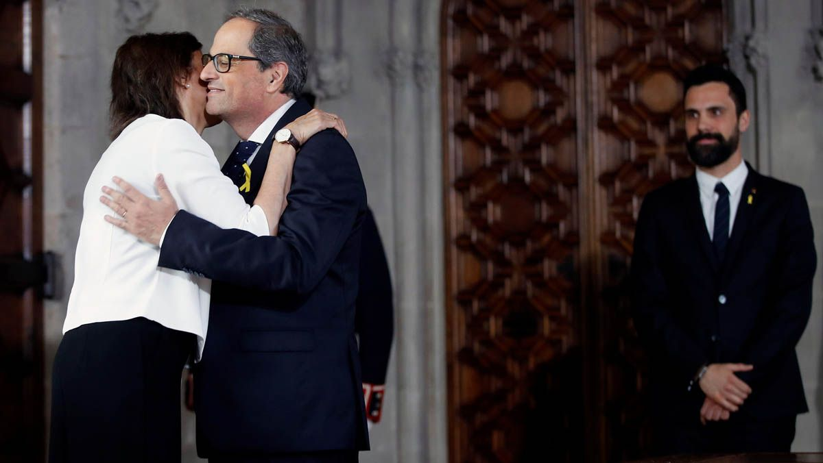 Toma de posesión de Quim Torra como president de la Generalitat.