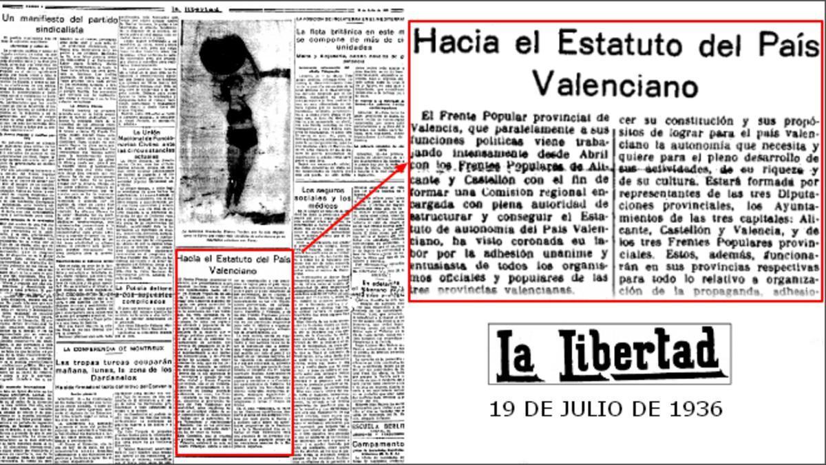 Página del diario 'La libertad', el diario más difundido en Madrid entre los años 20 y 30.