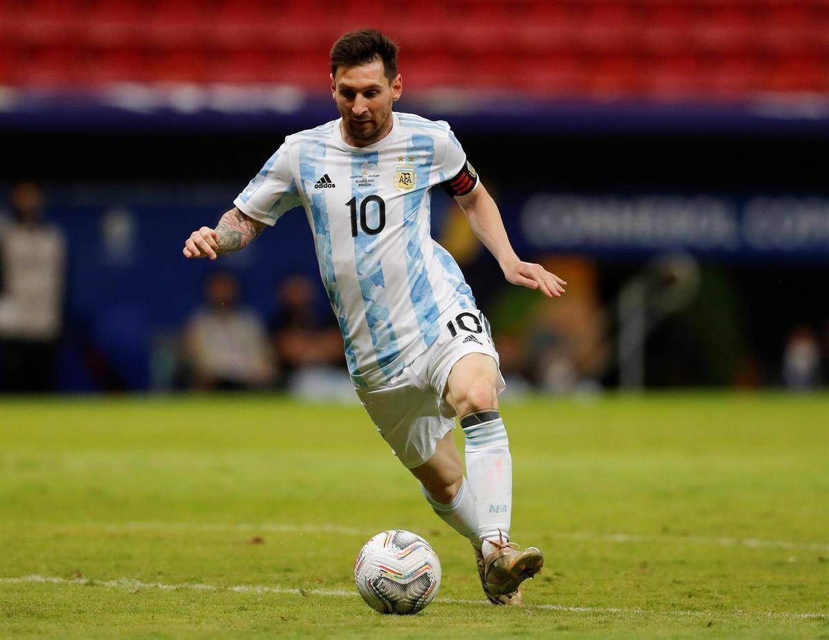 Messi, ante Uruguay.