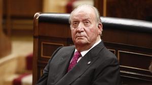 El rey emérito Juan Carlos, en una visita al Congreso.