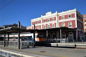 Estación de tren de Badalona.
