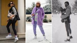 Tamara Falcó, Paula Echevarría y María F. Rubíes, 'influencers' que lucen sus calcetines con orgullo.